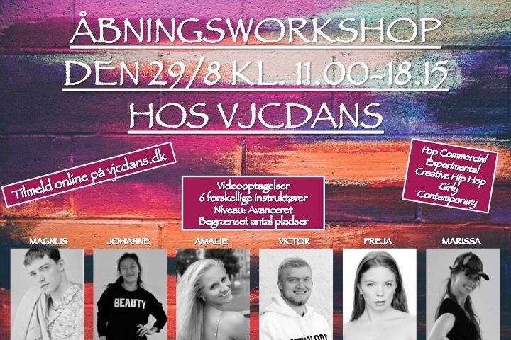Åbningsworkshop, VJCDANS Hillerød, Nordsjælland
